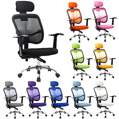 Office Chair Mesh Adjustable Executive Swivel Designer Computer Desk Seat Fabric