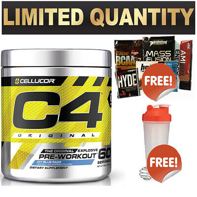Cellucor C4 Id 60 Srv Orange Mang Pre Workout C4 Original Energy Creatine Shaker