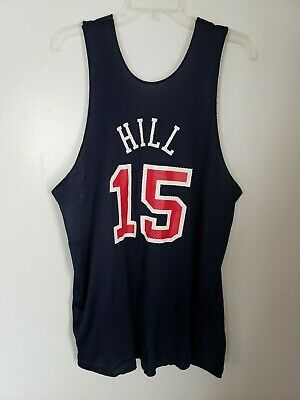 f5ba6a6b86e Champion Grant Hill 15 USA Basketball Dream Team Olympic Game Practice  Jersey XL
