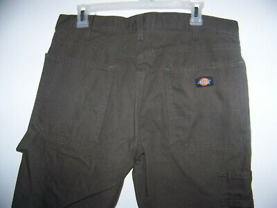 65d469b53dd4b5 Dickies Work Jeans Mens Relaxed Fit Carpenter Duck Jean Pants Brown 32 x 32