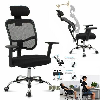 Office Mesh Swivel Chair Soft Seat Adjustable Executive Computer Desk Fabric