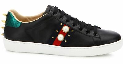 e04c6e221 NEW GUCCI LADIES Gg Supreme Ace Web Detail Sneakers Shoes 37/Us 7.5 ...