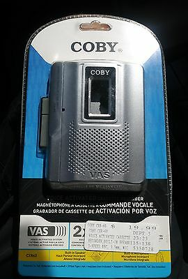 New Coby CX-R60 2 Speed Voice Activated Cassette Recorder W/Mic 2009 Freeship