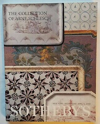 THE COLLECTION OF ARNE SCHLESCH - Sotheby's Catalogue - April 5, 2000. Like New?