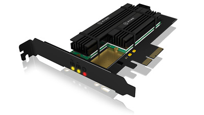 ICY BOX IB-PCI215M2-HSL PCIe extension card for 2x M.2 SSDs incl. heat sinks