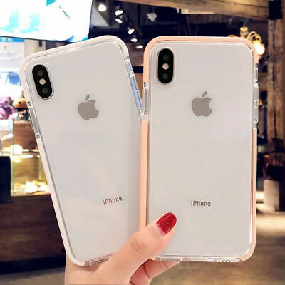 Clear Shockproof Bumper Silicone Soft Case Cover For iPhone XS Max XR 11 Pro Max
