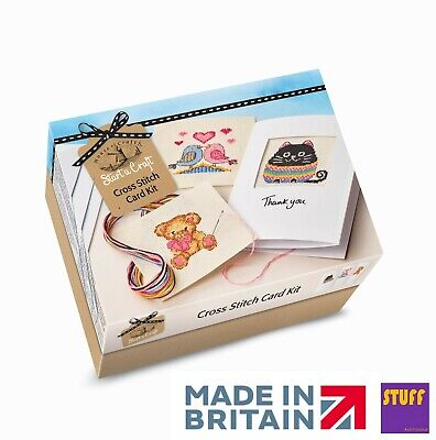 Make Your Own Card Kit Decorate Cross Stitch Craft Starter Set