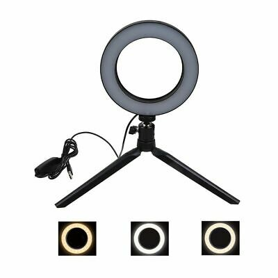 "6"" LED Studio Ring Light Dimmable Light Photo Video Lamp Kit For Camera Shoot"