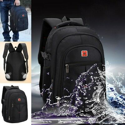 Mens Large Rucksack Backpack Waterproof Sports Travel Hiking School Bag Black Z