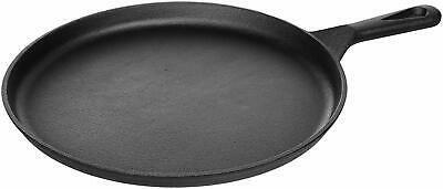 AmazonBasics Pre-Seasoned Cast Iron Round Griddle - 10.5-Inch
