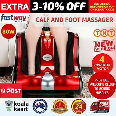 360 Foot and Calf Massager Squeeze Kneading Massage Rolling Vibration - Red