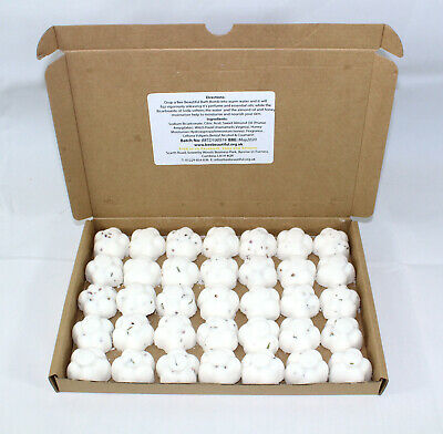 Bath Bombs Coconut scented 35 x 10g Flowers Bee Beautiful reduced plastic