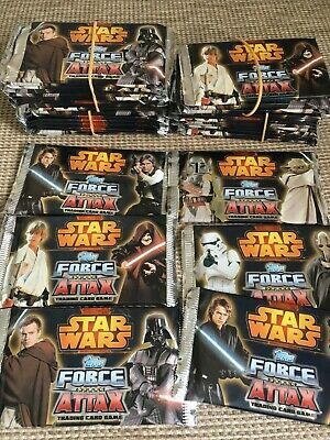 34 x Sealed Packs Topps Star Wars Force Attax Series 3 Trading Cards