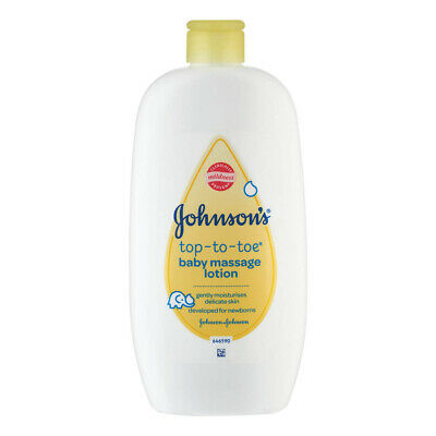 2 x Johnsons Baby Massage Lotion 500ml Each Head To Toe Gently Moisturises Skin