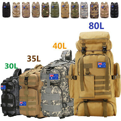 30L/80L Outdoor Military Rucksack Tactical Backpack Hiking Camping Sport bag