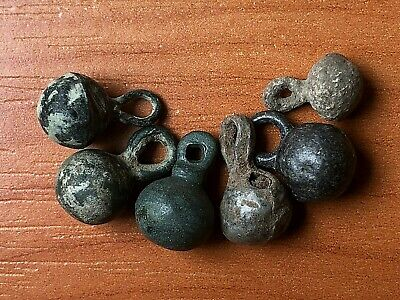 Lot of 6 Ancient Roman Bronze Military Pendants Circa 100-200 AD Very Rare