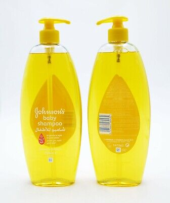 2 x Johnsons Baby Shampoo 750ml Each Gentle To Eyes As Pure Water No More Tears