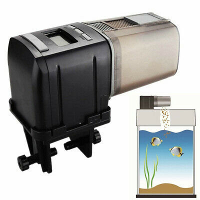 Automatic Fish Food Feeder Pet Feeding Aquarium Tank Pond Auto Tank Dispenser SU