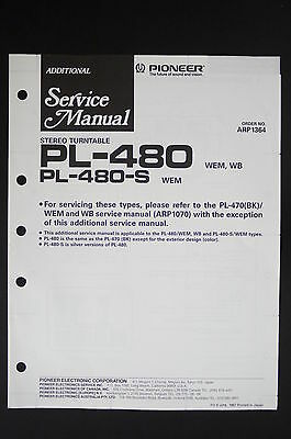 PIONEER PL-480 PL-480-S Original Turntable Additional Service-Manual/Diagram 117