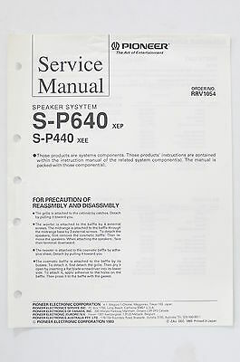PIONEER S-P640 S-P440 Speaker System Service-Manual/Anleitung/Schaltplan! o68A