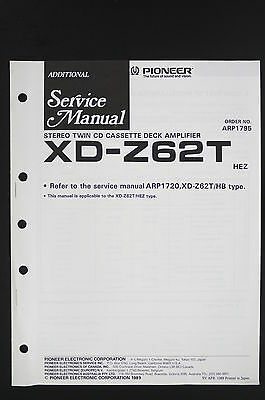PIONEER XD-Z62T Original CD/Tape/Amplifier Additional Service-Manual/Diagram 120