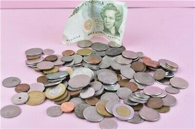 Vintage Coin Bundle Job Lot Worldwide UK Italy US Canada 1942-1990's Collectable