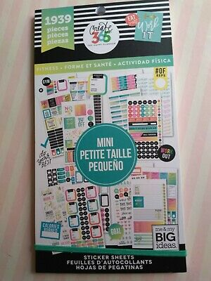 FITNESS edition Create 365 The Happy Planner MAMBI 1475 stickers
