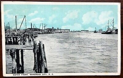 MOREHEAD CITY NORTH Carolina Petroleum Co Oil Well Antique Postcard