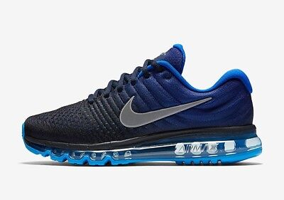 NIKE AIR MAX 2017 Mens Running Shoes Navy White Sneakers