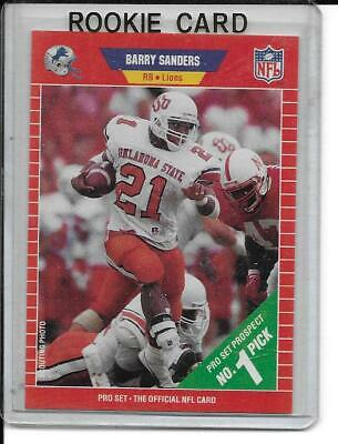 1989 Nfl Pro Set Rookie Of The Year Barry Sanders The Official Nfl