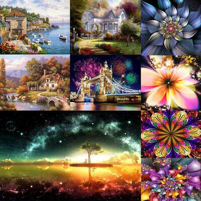 Full Drill 5D Diamond Painting Embroidery Cross Crafts Stitch Kit Home Decor DIY