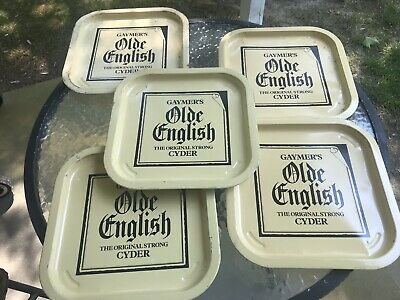 GROUP LOT OF 5 Vintage Gaymers Olde English Strong Cyder Pub Beer Trays