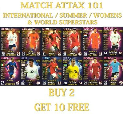2019 Topps Match Attax 101 Summer / International / World / Women Stars Cards