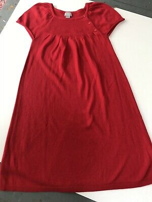 b3b8a3f10bd89 CYRILLUS 10 ANS 🌸 Robe hiver maille rouge 10 % angora - EUR 13,00 ...