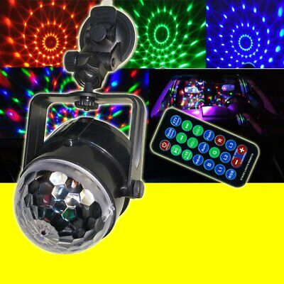 USB RGB LED Disco Ball DJ Party Light Effect Sound Activated Strobe Gift HL