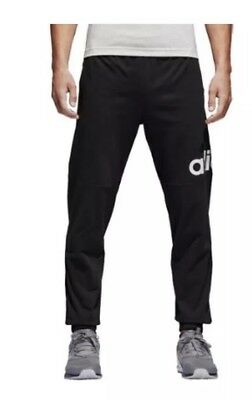 New Adidas Men's Essentials Top Performance Logo Pants Black/White XL