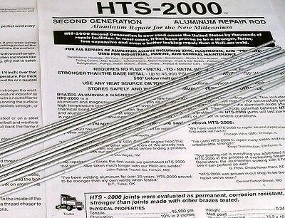 HTS 2000 Aluminum Repair Brazing welding rods 10 pcs