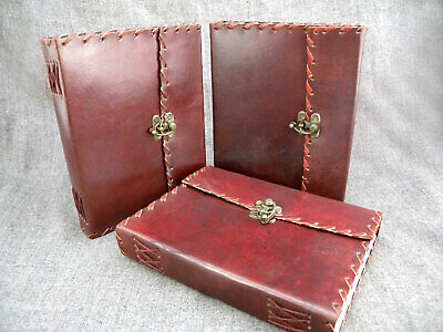 Bargain Set of THREE A5 Leather Journals Journals - NEW but SECOND Quality