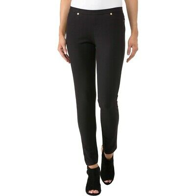2c1f1bcf227e80 $150 Michael Kors Women's Black Stretch Pocketed Pull-On Jegging Pants Size  P/S
