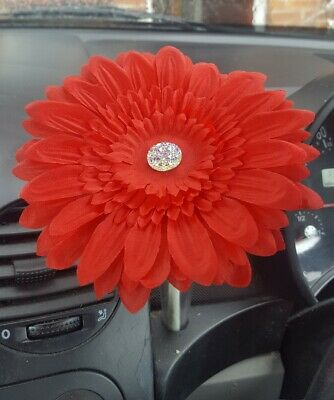 VW flower large 15CM bright red for your dash VW Gerbera Beetle best prices