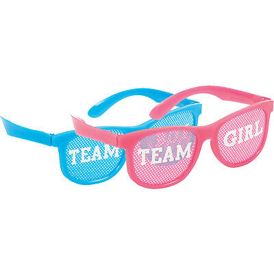 Gender Reveal Baby Shower Glasses Party Favours x 10