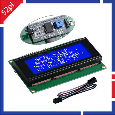 52Pi IIC/I2C LCD 2004 Character LCD Module Display for Raspberry Pi Arduino Uno