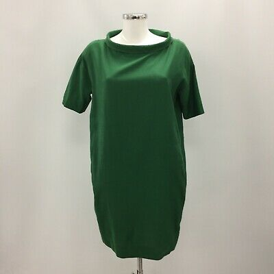 de821b58aed3 COS Green Collared Loose Oversized Tunic Dress Pockets Size EU 36 UK 10  TH101840