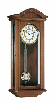 Hermle Lincoln Elegant Mechanical Wall Clock - 4 x 4 Westminster Chime - Walnut
