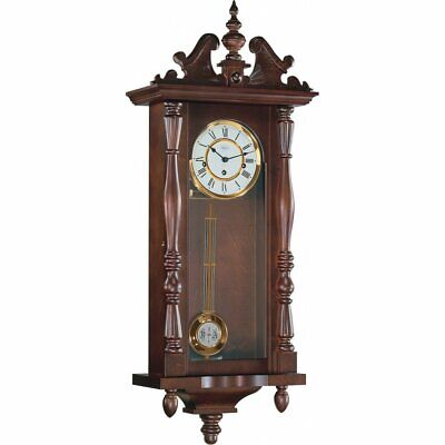 Hermle Hammersmith Mechanical Regulator Wall Clock - Walnut - Westminster Chime