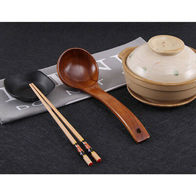 Wooden Beech Bamboo Kitchen Cooking Soup Teaspoon Catering Food Spoon 8M