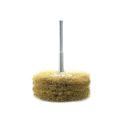 6*80mm Copper Wire Grinding Wheel Brush With Shank Rotary Tool High Quality