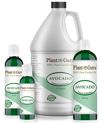 Avocado Oil Cold Pressed 100% Pure Organic For Hair, Skin 2 oz to 7.5 lbs Bulk