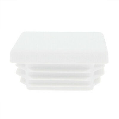 4 Pack Square Tube Inserts 100mm x 100mm, White, Box Section Caps, Tube End Cap