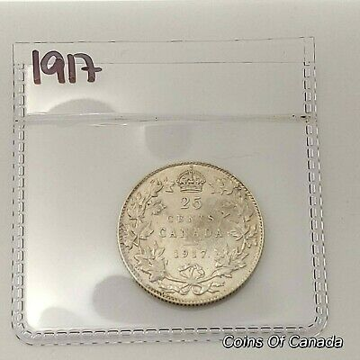 1917 Canada Silver 25 Cents Coin - Sealed In Acid-Free Package #coinsofcanada
